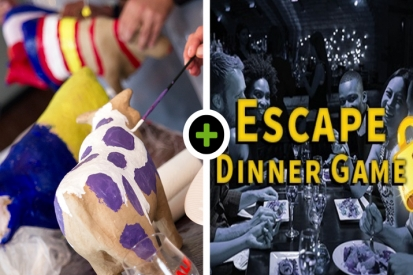 Koe schilderen - Escape Dinner Game